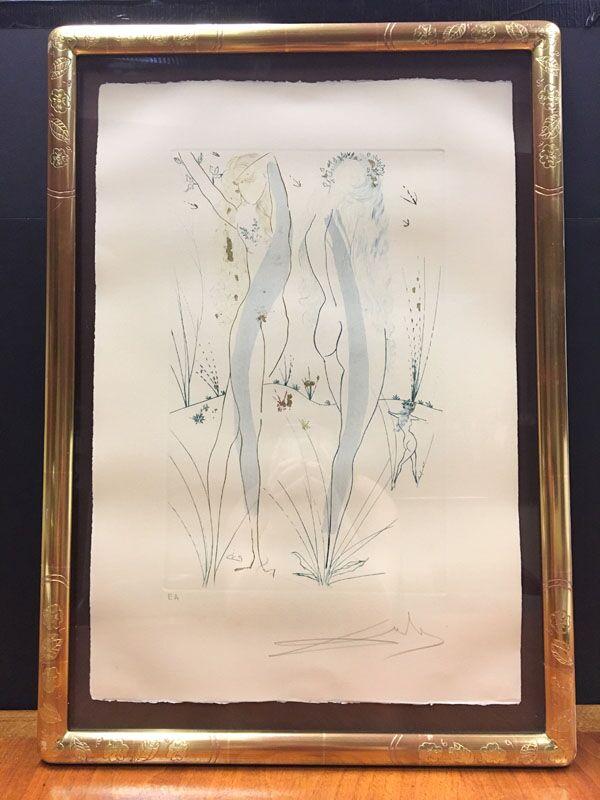 Original Salvador Print with gold